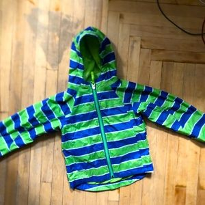 LL BEAN kids rain jacket, size 5-6